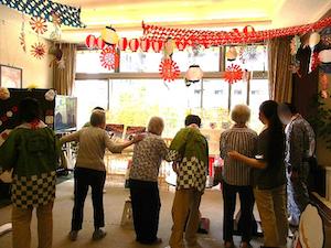 グッドタイムホーム多摩川の夏祭り