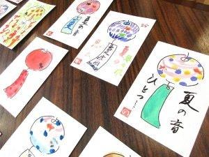グッドタイムホーム多摩川のレクリエーション-絵手紙教室