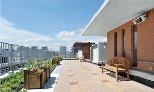 グッドタイムホーム多摩川の屋上